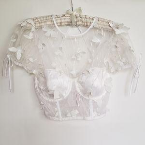NWT Victoria's Secret Embellished Bra/Top Bridal
